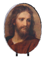 Christ at 33 by Hoffman Oval Slate Tile