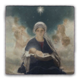 Star of Bethlehem Square Tumbled Stone Tile
