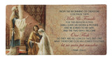 Wedding of Joseph & Mary with Scripture Hi-Gloss Mini Tile