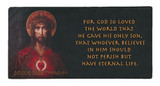 For God So Loved the World with Scripture Hi-Gloss Mini Tile