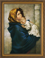 Madonna of the Streets - Gold Framed Canvas