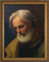 St. Joseph by Guido Reni - Standard Gold Framed Canvas