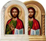 Byzantine Christ Desk Shrine