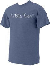 """Totus Tuus"" Pope Saint John Paul II Heather Light Blue T-Shirt"