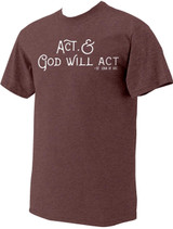 """Act"" St. Joan of Arc Heather Maroon T-Shirt"