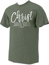 """Christ"" St. Patrick Heather Green T-Shirt"
