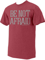 """Be Not Afraid"" Pope Saint John Paul II Heather Red T-Shirt"