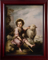 The Young Good Shepherd by Murillo - Cherry Framed Art