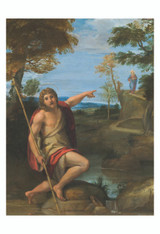 Saint John the Baptist Bearing Witness by Annibale Carracci Print