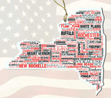 New YorkWooden State Ornament