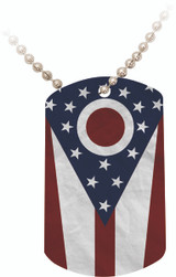 Ohio Flag Dog Tag