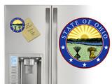 State of Ohio Seal Ohio Round Magnet