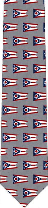 Ohio Flag Tie