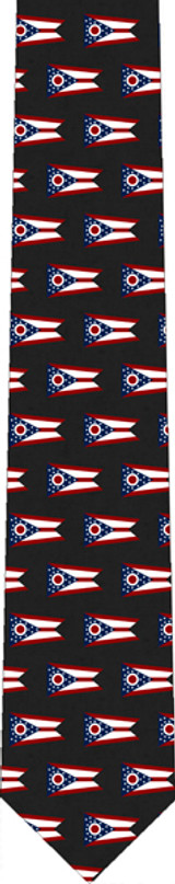 Ohio Flag Tie black
