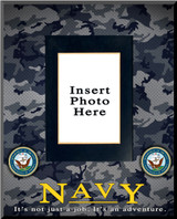 """Navy"" Picture Frame Vertical"