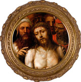 Christ Presented to the People by Il Sodoma - Round Framed Canvas