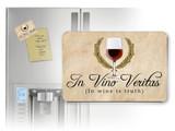 In Vino Veritas Cursive Magnet