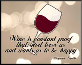 Wine is Constant Proof Wall Plaque