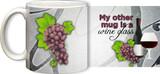 My Other Mug is a Wine Glass (Red) Mug