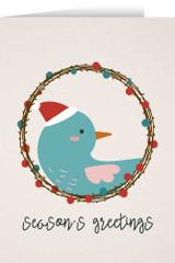 Season's Greetings with Bird Christmas Cards (box of 25)