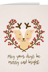 May Your Days Be Merry with Reindeer Christmas Cards (box of 25)