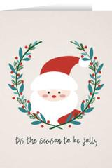 Tis the Season to Be Jolly with Santa Christmas Cards (box of 25)