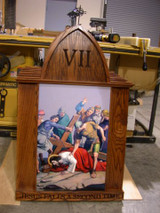 Custom Stations of the Cross - Oak framed and Engraved - Call to order!