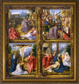 Four Scenes from the Passion - Gold Framed Art