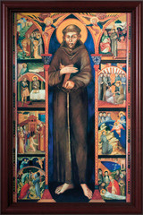 St. Francis by Dossal Cherry Framed Canvas