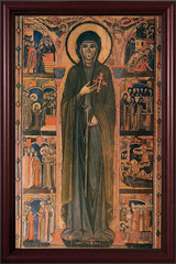 St. Clare by Dossal Cherry Framed Canvas