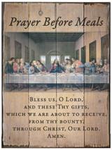 Last Supper Prayer Before Meals Rustic Wood Plaque