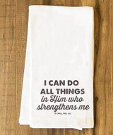 I Can Do All Things Tea Towel