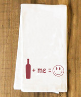 Wine + Me = Happy Tea Towel