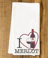I Heart Merlot Tea Towel