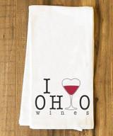 I Heart Ohio Wines Tea Towel