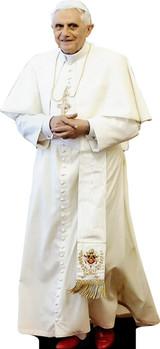 Benedict XVI in White Lifesize Standee
