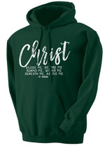 """""""Christ Beside Me"""" St. Patrick Forest Green Hoodie"""
