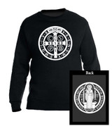 Benedictine Medal Black Crewneck Sweatshirt