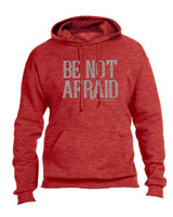 """Be Not Afraid"" Pope Saint John Paul II Heather Red Hoodie"