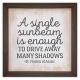"""A Single Sunbeam"" Rustic Framed Quote"