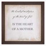 """""""The Loveliest Masterpiece"""" Rustic Framed Quote"""
