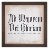 AMDG Rustic Framed Quote