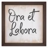 """""""Ora et Labora"""" Rustic Framed Quote"""