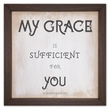 """""""My Grace is Sufficient For You"""" Rustic Framed Quote"""