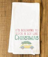 Beginning to Look a lot like Christmas Tea Towel