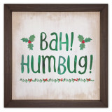 Bah Humbug Rustic Framed Quote