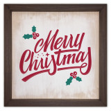 Merry Christmas Rustic Framed Quote