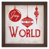 Joy to the World Rustic Framed Quote