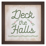 Deck the Halls Rustic Framed Quote