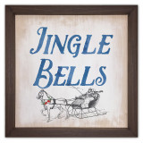 Jingle Bells Rustic Framed Quote
